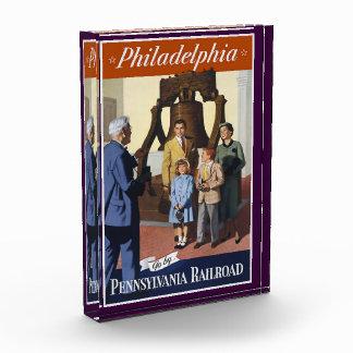 Visit Philadelphia on The Pennsylvania Railroad Acrylic Award