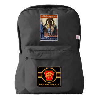 Visit Philadelphia on The Pennsylvania Railroad American Apparel™ Backpack