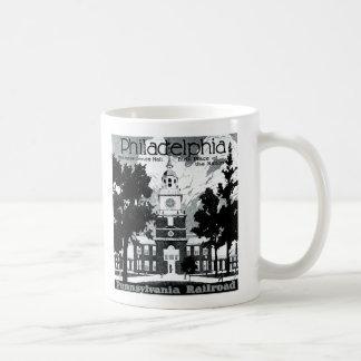Visit Philadelphia on the Pennsylvania Railroad Coffee Mug
