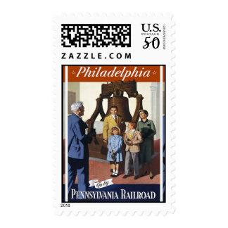 Visit Philadelphia on The Pennsylvania Railroad Postage