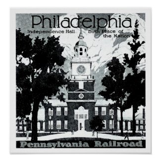 Visit Philadelphia on the Pennsylvania Railroad print