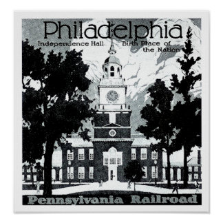 Visit Philadelphia on the Pennsylvania Railroad Posters