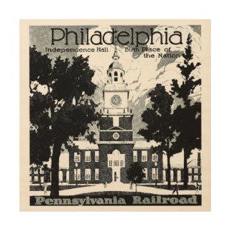 Visit Philadelphia on the Pennsylvania Railroad Wood Wall Decor