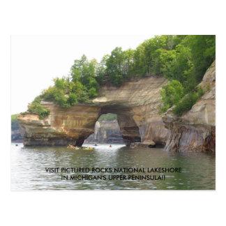 Visit Pictured Rocks National Lakeshore! Postcard