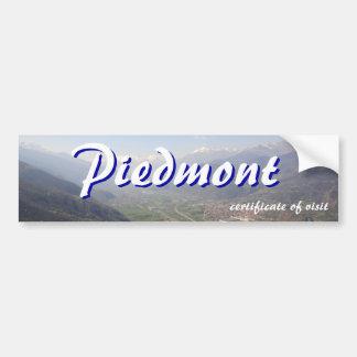 Visit Piedmont certificate Bumper Sticker