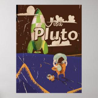 Visit Pluto Vintage Travel poster