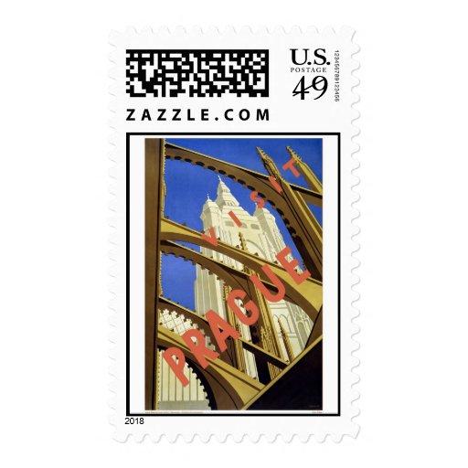 Visit Prague Postage Stamps