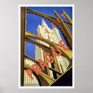 Visit Prague Poster