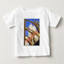 Visit Prague Vintage Travel Poster Art Baby T-Shirt