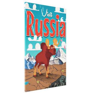 Visit Russia Cartoon Vintage Poster Canvas Print