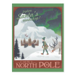 Visit Santa's workshop at the North Pole: postcard