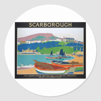 Visit Scarborough Poster Stickers