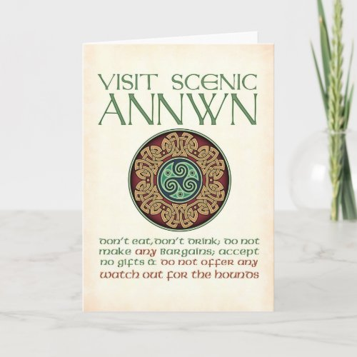 Visit Scenic Annwn Greeting Card