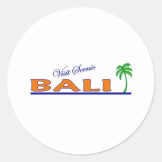 Visit Scenic Bali, Indonesia Classic Round Sticker
