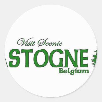 Visit Scenic Bastogne, Belgium Classic Round Sticker