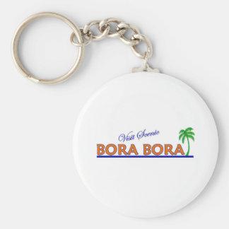 Visit Scenic Bora Bora Basic Round Button Keychain