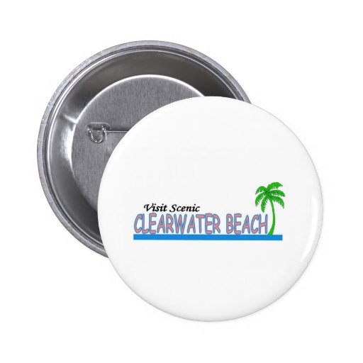 Visit Scenic Clearwater Beach Pin