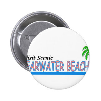 Visit Scenic Clearwater Beach Pinback Button