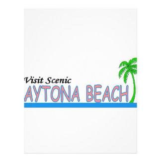 Visit Scenic Daytona Beach Personalized Letterhead
