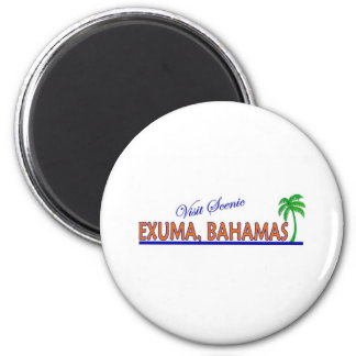 Visit Scenic Exuma, Bahamas Fridge Magnets