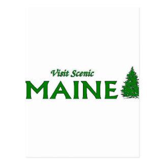 Visit Scenic Maine Postcard