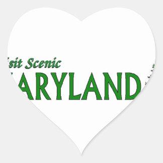 Visit Scenic Maryland Heart Sticker
