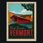 "Visit Scenic Vermont Postcard<br><div class=""desc"">Anderson Design Group is an award-winning illustration and design firm in Nashville,  Tennessee. Founder Joel Anderson directs a team of talented artists to create original poster art that looks like classic vintage advertising prints from the 1920s to the 1960s.</div>"