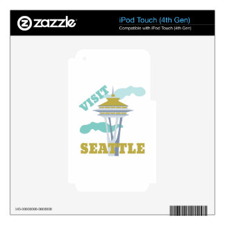 Visit Seattle iPod Touch 4G Skin