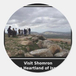 Visit Shomron Classic Round Sticker