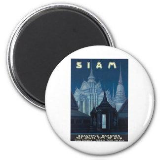 Visit Siam Poster 2 Inch Round Magnet