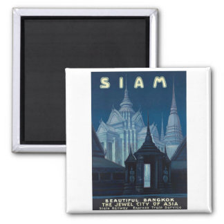 Visit Siam Poster 2 Inch Square Magnet