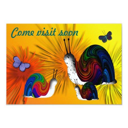 Visit Soon 3.5x5 Paper Invitation Card