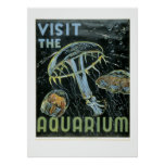 Visit the Aquarium - WPA Poster -