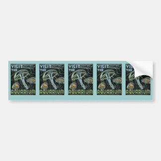 Visit the Aquarium - WPA Poster - Car Bumper Sticker