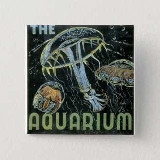 Visit the Aquarium - WPA Poster - Button