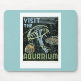 Visit the Aquarium - WPA Poster - Mouse Pad