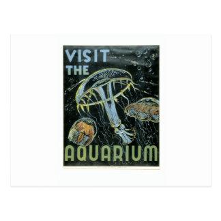 Visit the Aquarium - WPA Poster - Postcard