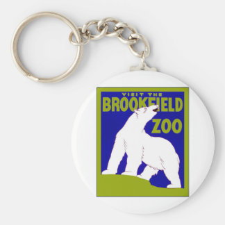 Visit the Brookfield Zoo ~ Vintage Zoo Keychain