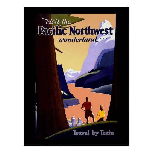 Visit The Pacific Northwest Postcards