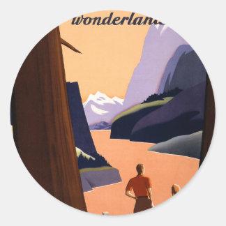 Visit the Pacific Northwest Wonderland... Classic Round Sticker