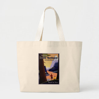 Visit the Pacific Northwest Wonderland Large Tote Bag