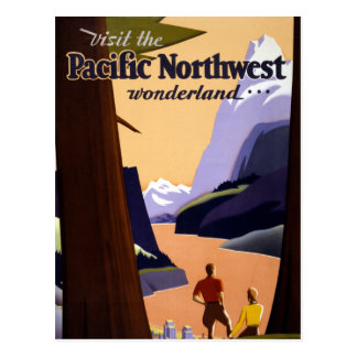 Visit the Pacific Northwest Wonderland Postcard
