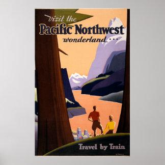 Visit the Pacific Northwest Wonderland... Poster