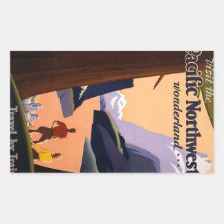 Visit the Pacific Northwest Wonderland... Rectangular Sticker