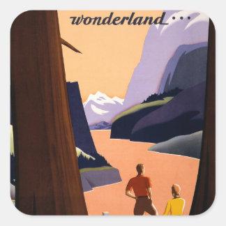 Visit the Pacific Northwest Wonderland... Square Sticker