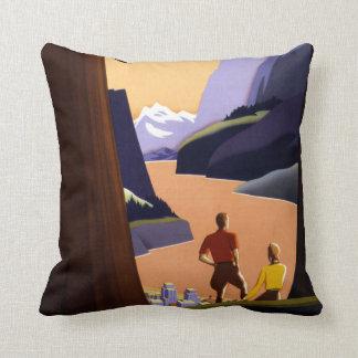 Visit the Pacific Northwest Wonderland Throw Pillow