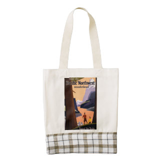 Visit the Pacific Northwest Wonderland... Zazzle HEART Tote Bag