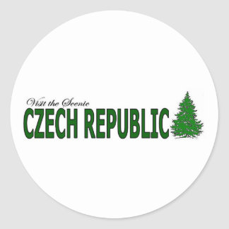 Visit The Scenic Czech Republic Classic Round Sticker
