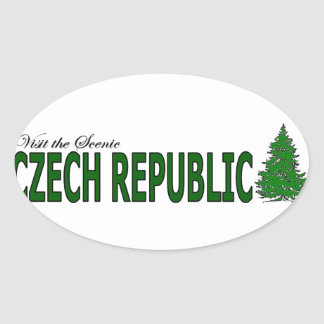 Visit The Scenic Czech Republic Oval Sticker