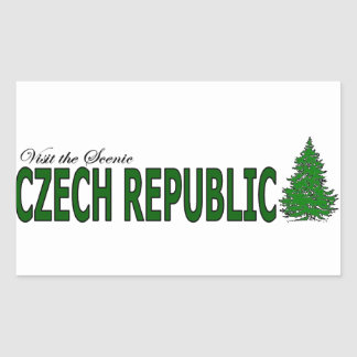 Visit The Scenic Czech Republic Rectangular Sticker